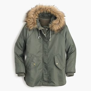 J.Crew Collection nylon parka with removable liner
